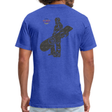 ONE RUN Fitted T-Shirt - heather royal