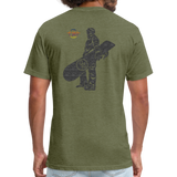 ONE RUN Fitted T-Shirt - heather military green
