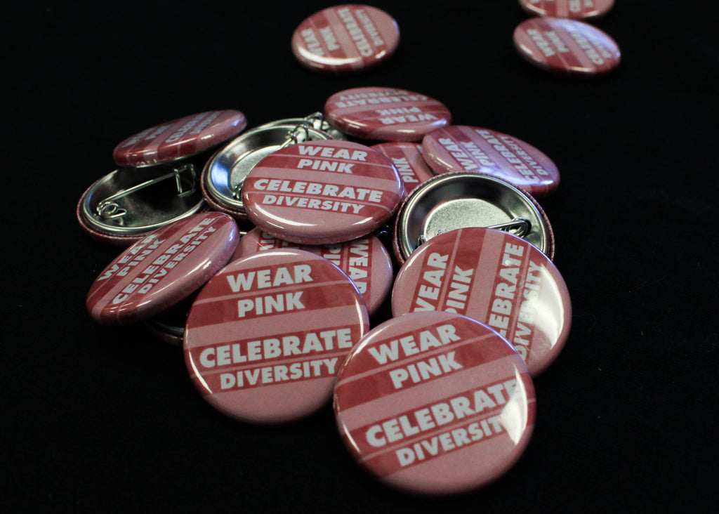 Wear Pink- Celebrate Diversity Button