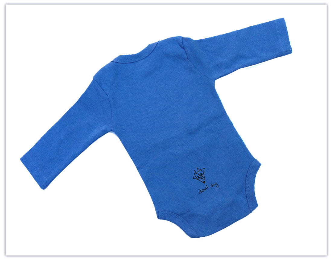 "Baby: ""Angel Dog/Devil Dog"" Organic Long Sleeve Onesie"