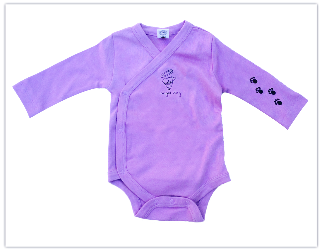 Baby: Lavender Long Sleeve Cross Body Onesie