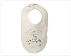 Baby: Organic Cotton Bib - Fortune Cookie
