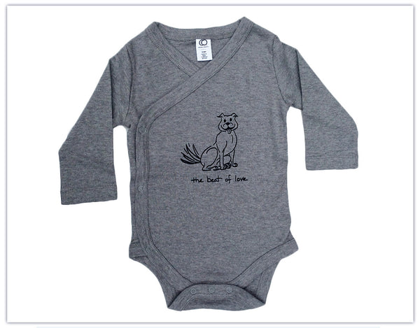 "Baby: ""The Beat of Love"" Organic Kimono Onesie"