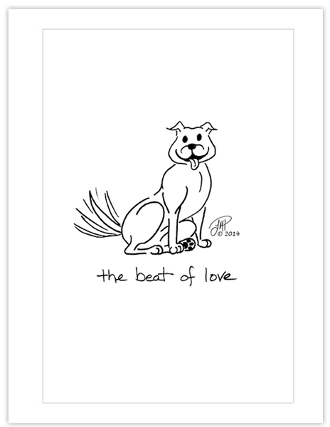 Note Cards: The Beat of Love (pack of 12)