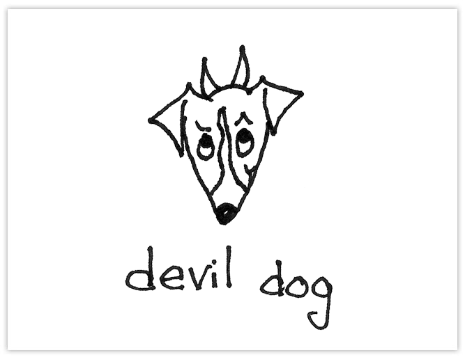Canvas Tote Bag, Devil Dog