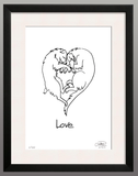 Framed Print: Love