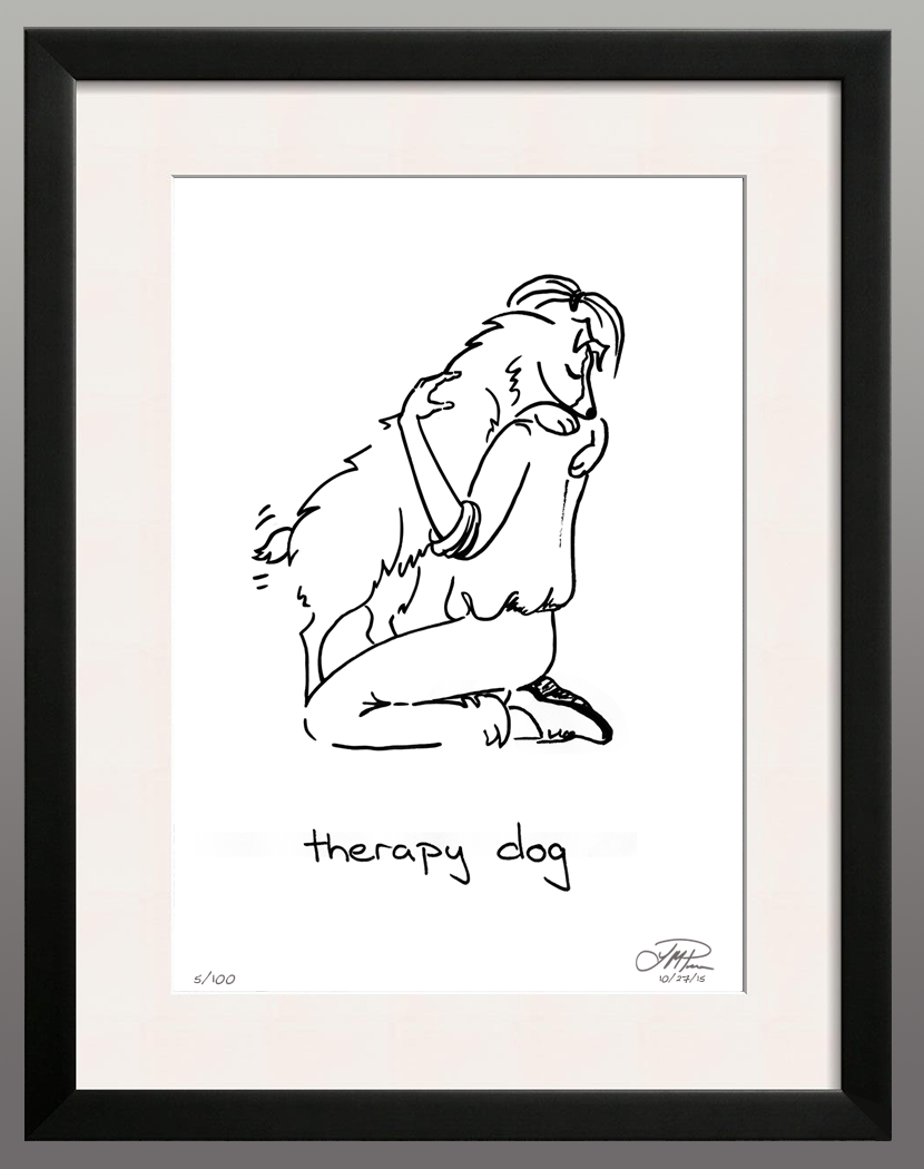 Framed Print: Therapy Dog