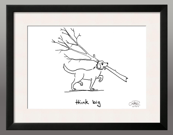 Framed Print: Think Big