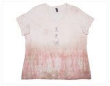 Tie Dyed Shirt in Dusty Rose