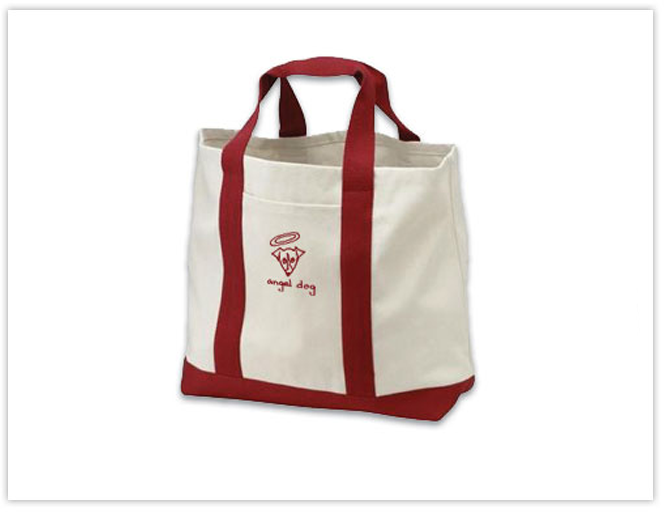 Canvas Tote Bag, Angel Dog