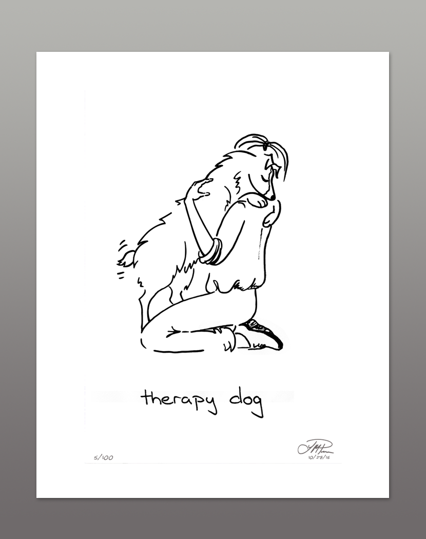Giclée Print: Therapy Dog