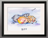 Framed Print: BFF, Mixed Media