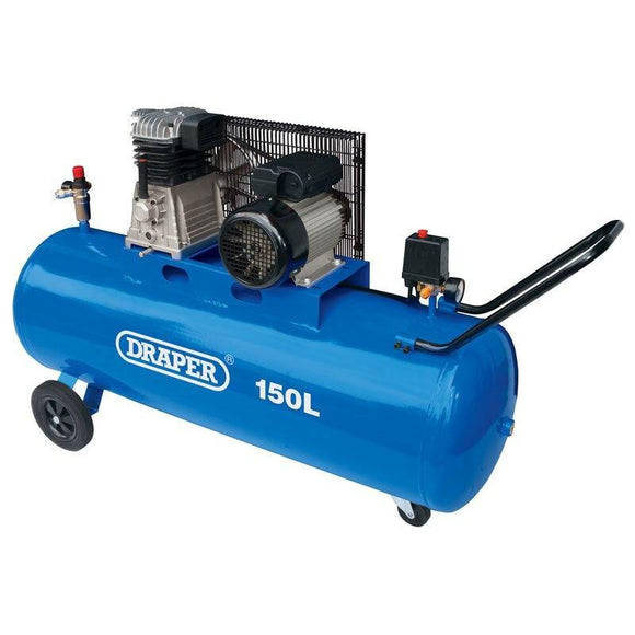 Draper 150l Belt Driven Air Compressor (2.2KW 2HP) DA150/369M