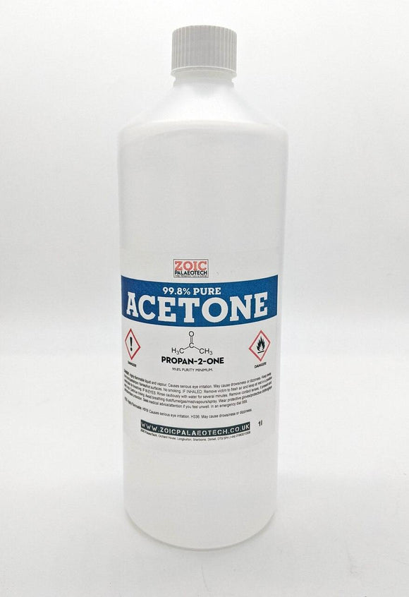 acetone 1l bottle lab grade fossils