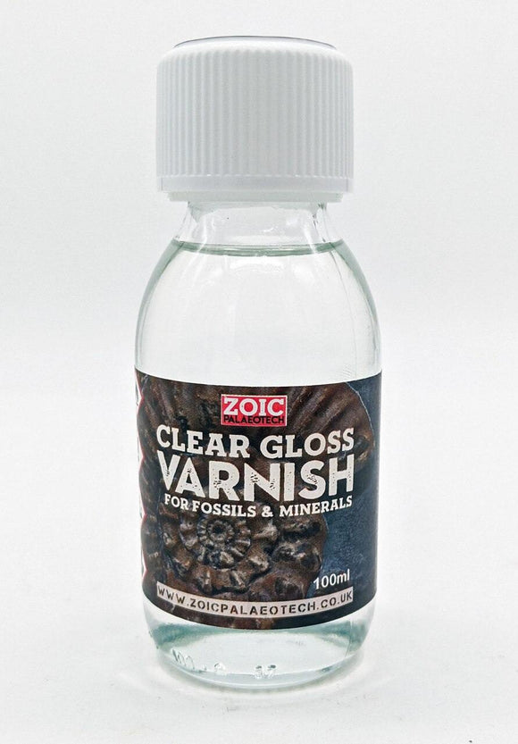 Fossil clear gloss varnish finishing professional look calcite hide damage conceal disguise wax glossy