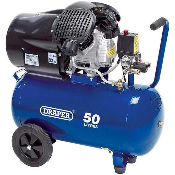 Air compressor 50l Draper (2.2KW) DA50/412TV 3HP for fossil preparation. Compressor for air pens and air abrasives.