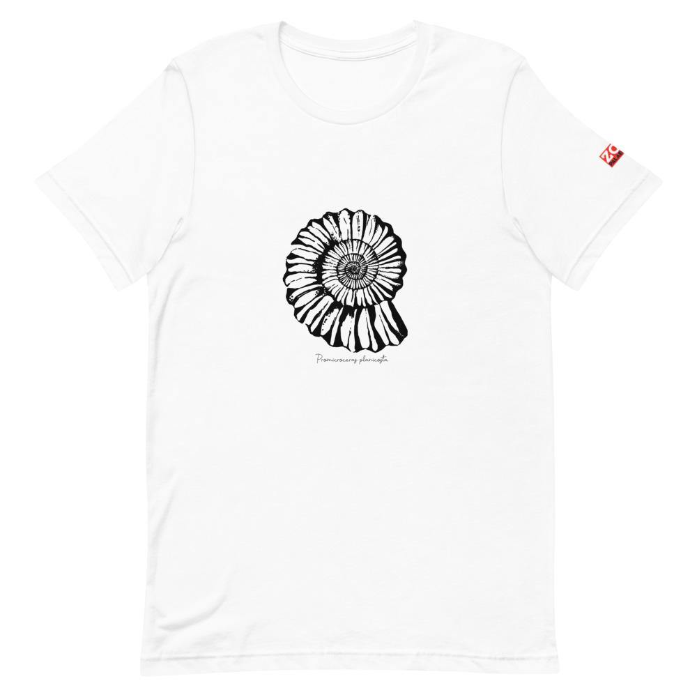 Fossil Ammonite t shirt cotton geology paleontology palaeontology