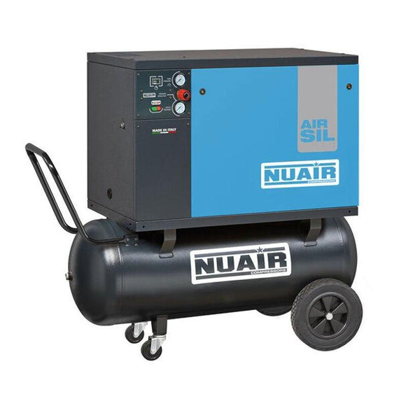 NuAir silenced belt driven compressor 100l