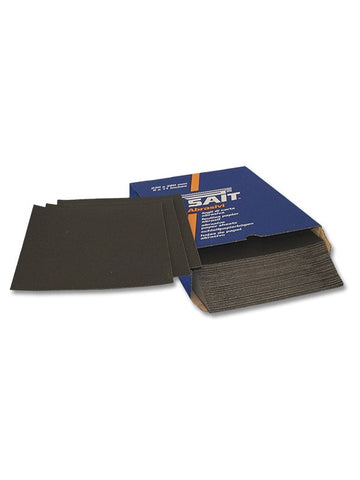 Assorted Packs of Sait Waterproof Wet-and-Dry Sanding Paper 230 x 280mm (Mixed Grits)