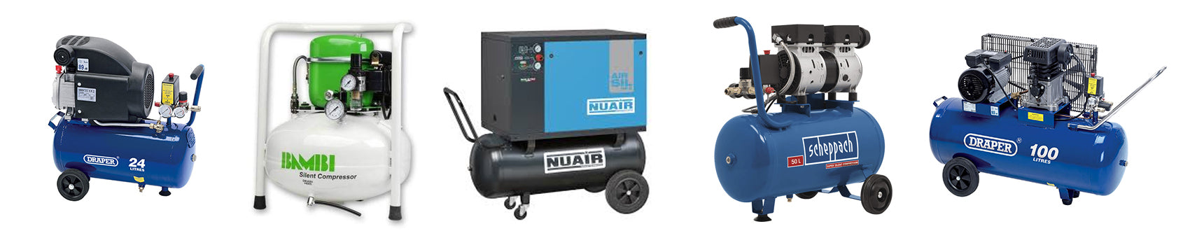 Best air compressors for fossil preparation including Draper, Bambi, Nuair Silent quiet oiled belt driven direct driven powerful fossil prep