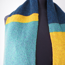 Load image into Gallery viewer, Around The Block Scarf - Blue/Navy/Yellow