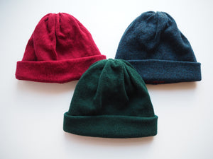 School Days Block Beanie - Maroon/Blue