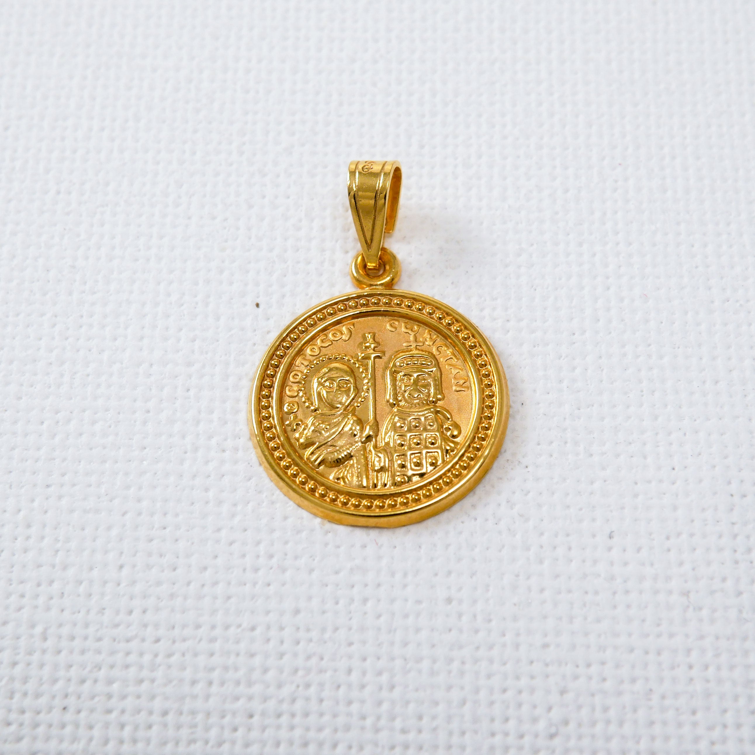 9K Gold Constantine Coin Charm (III)