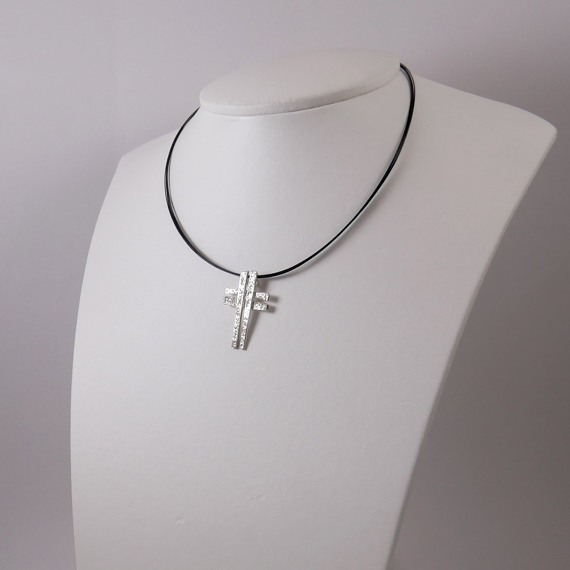 Double Designed Cross (Silver) - Katerina Roukouna