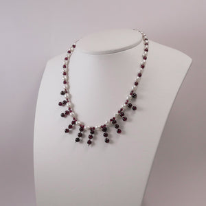 Pearls, Garnets, and Sterling Silver - Katerina Roukouna