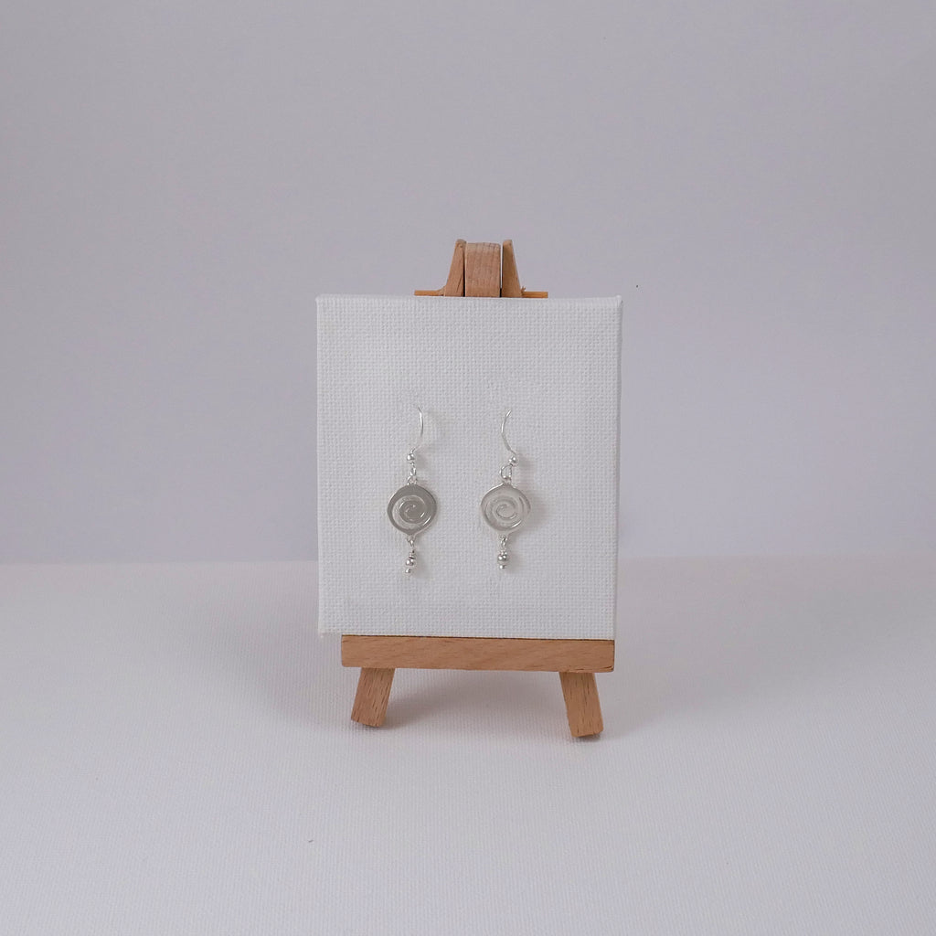 Medium Spiral Hooked Earrings - Katerina Roukouna