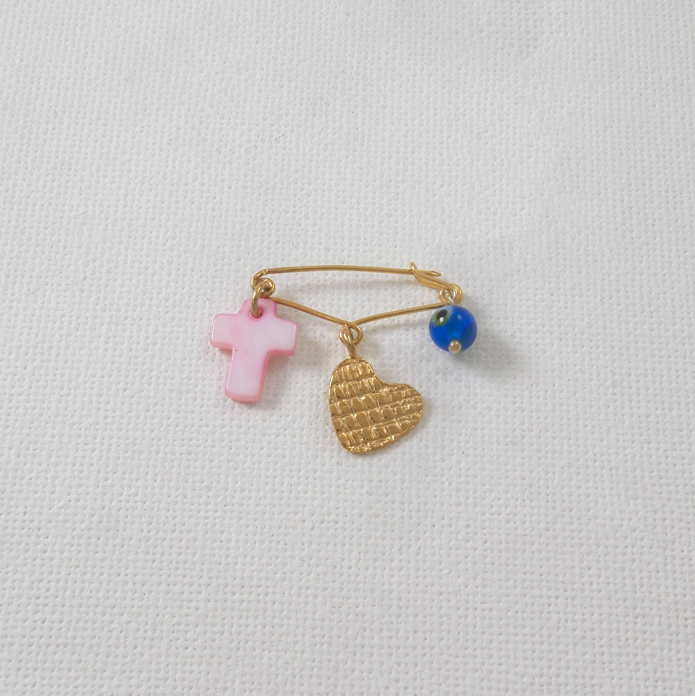 Baby Girl Pin Charm - Heart