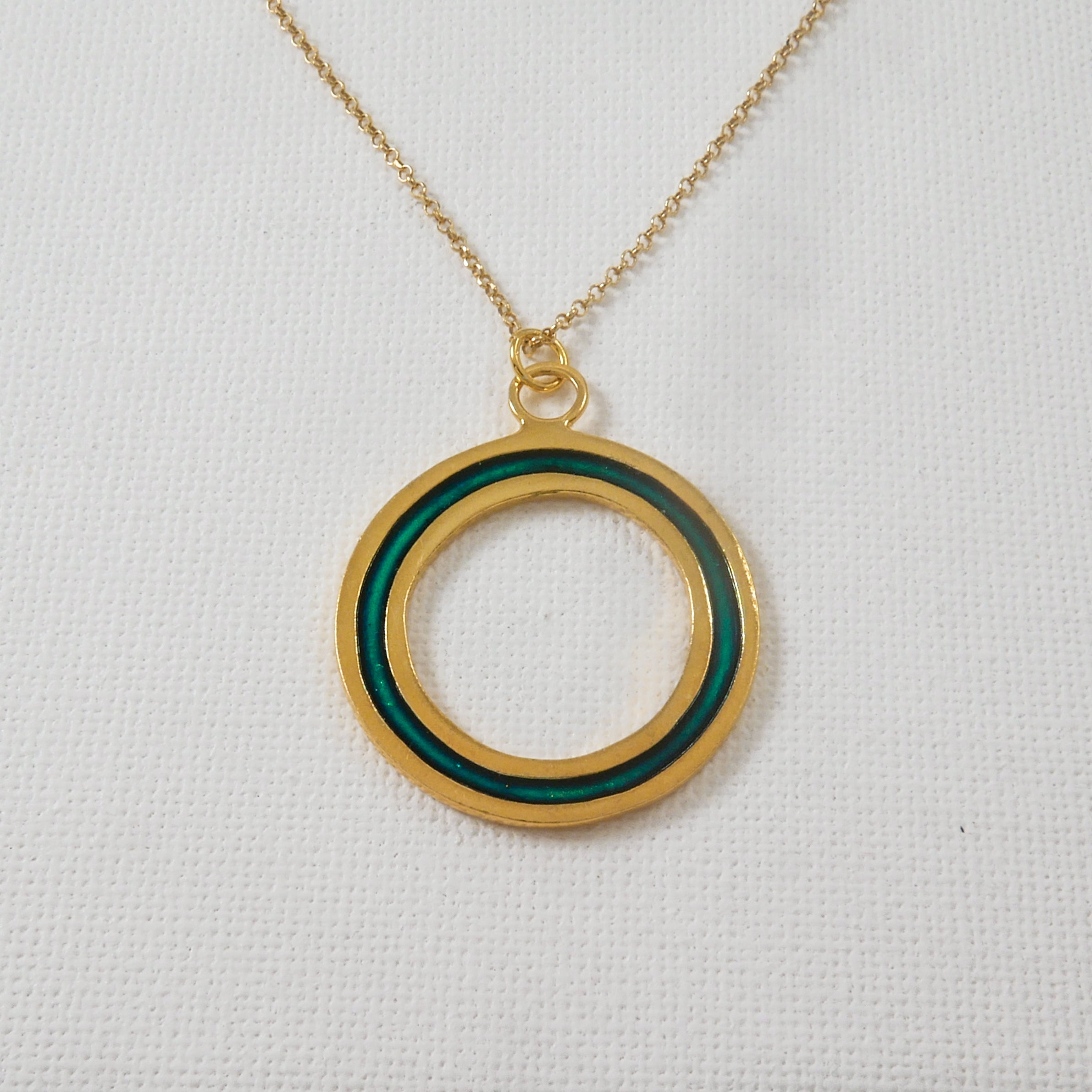 Green Loop Pendant