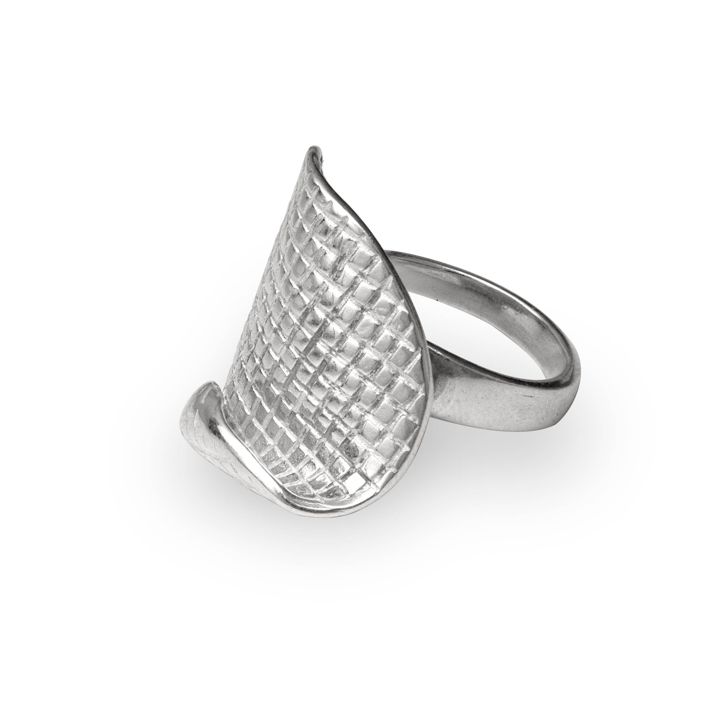 UNFOLD Silver Ring - Katerina Roukouna