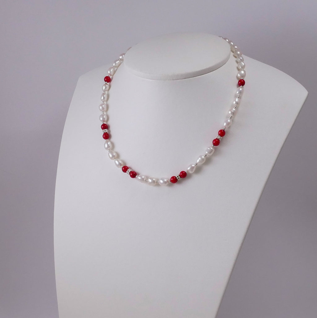 Pearls, Corals, and Sterling Silver - Katerina Roukouna
