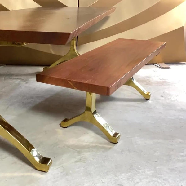 Bench 112 Matte Brass Gold Wishbone (Free Shipping USA)