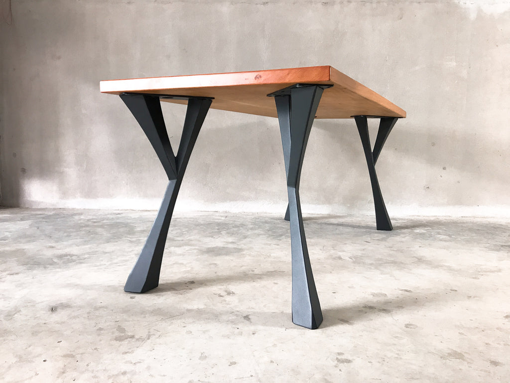 Picture of: Metal Table Legs Furniture Base Steel Base For Live Edge Top River Epoxy Resin Table Table Base Com