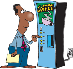a man getting coffee