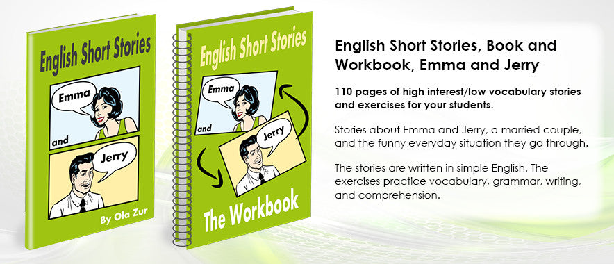 English Short Stories, Book and Workbook, Emma and Jerry