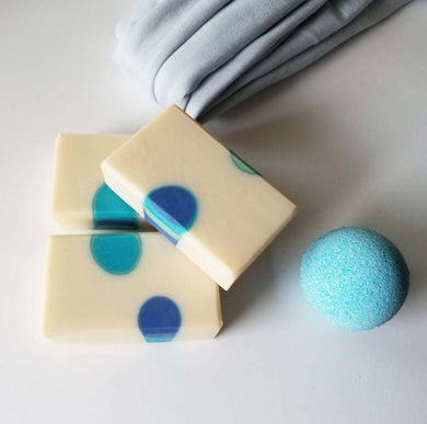 Blue Dots Soap