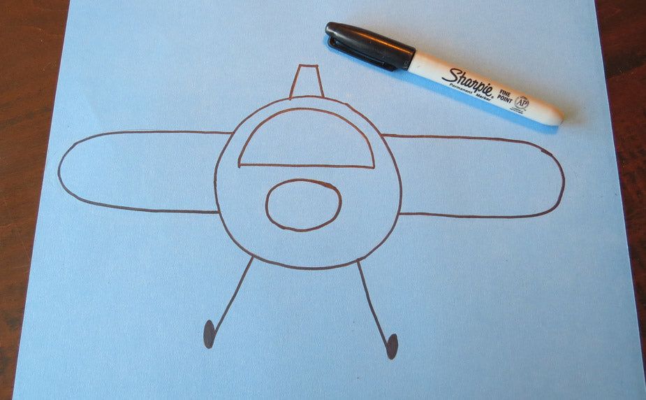 Pin the Airplane Propeller Activity