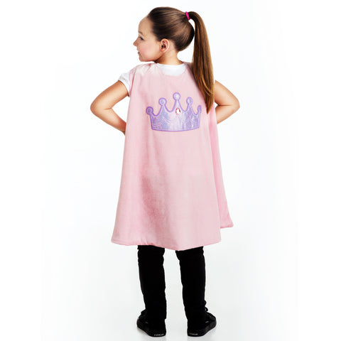 Superhero Pink Crown Cape
