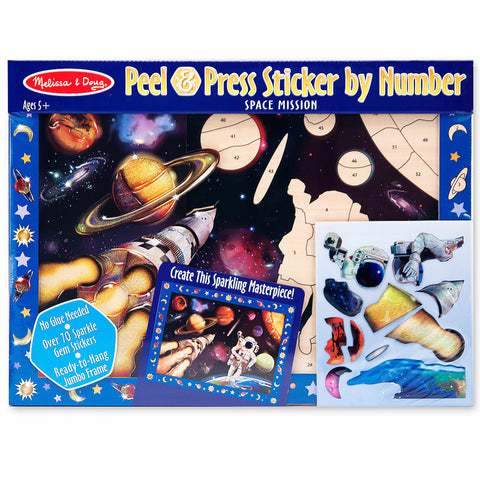 Space Mission Peel & Press Sticker Activity
