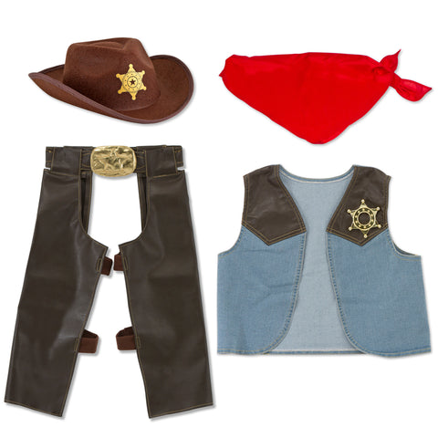Cowboy Costume Pretend Play Set