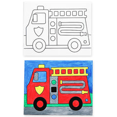 Canvas Creations Fire Truck
