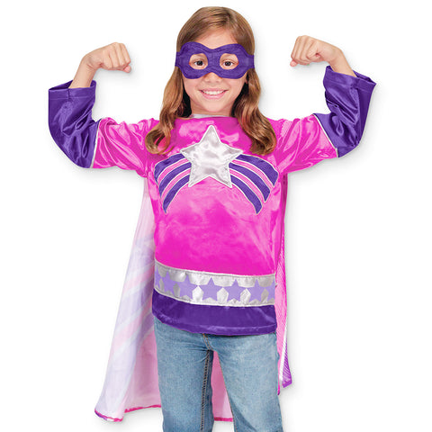 Superhero Pink Costume Pretend Play Set