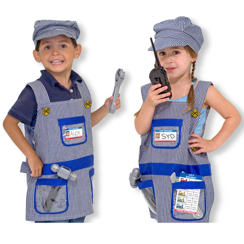 Train Engineer Costume Pretend Play Set