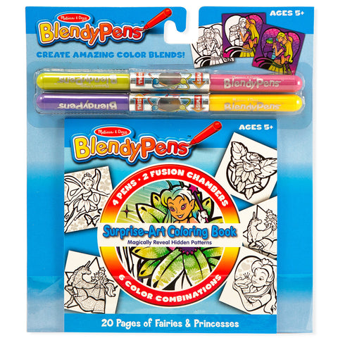 Surprise Art Coloring Book - Fairies and Princesses