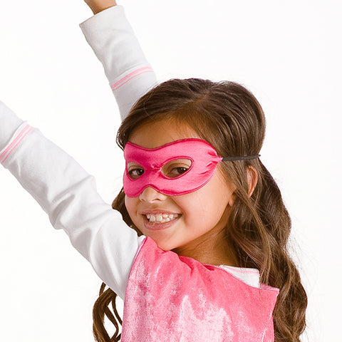 Superhero Reversible Mask Fuchsia/White