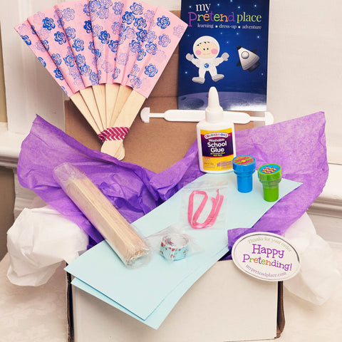 Princess Fan DIY Pretend Play Project