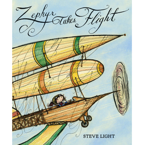 Zephyr Takes Flight hardcover book by Steve Light